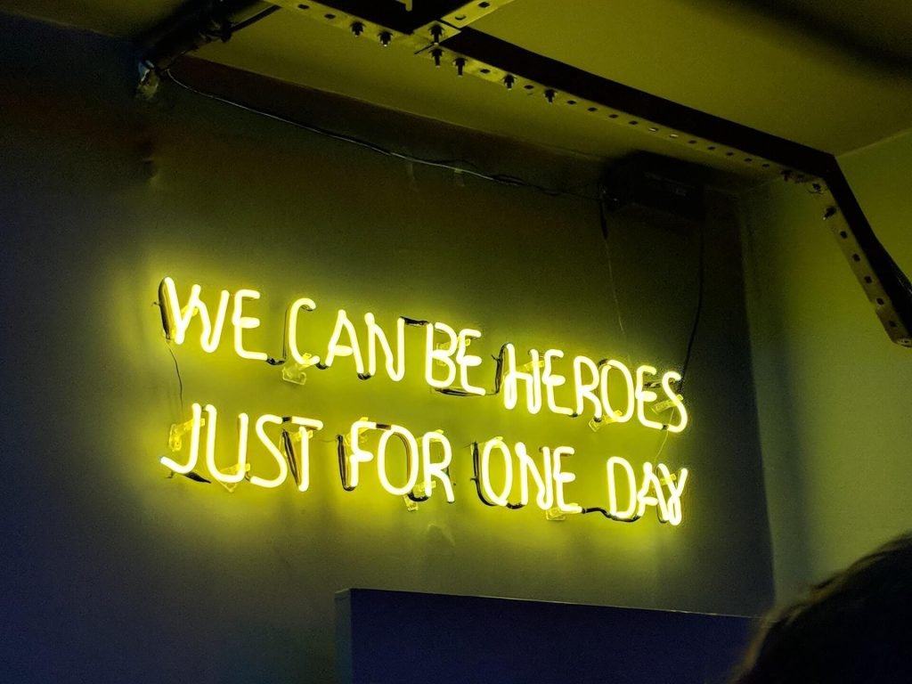 We can be hero's, just for one day...